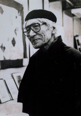 "(About the photo)NISHIGAKI Chuichi (1912–2000) He was a painter and associate professor at Prefectural School of Painting (today, Kyoto City University of Arts) between 1943 and 1949. After working as a high school teacher, he engaged in Mizunoki Residence (today, Mizunoki) in 1964 as an art educator for people with mental disabilities. (Extract from"" Innocent Painters: Thirty Years of the Residence for People with Mental Disabilities"", NHK Publishing, Inc., 1996) Photo: Mizunoki Museum of Art, Kameoka"