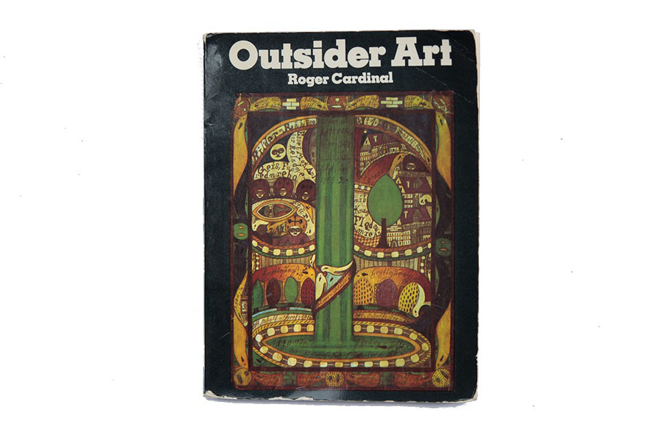 "(About the photo)Roger Cardinal's book ""Outsider Art"" (1972). The front cover artwork is by Adolf Wölfli"