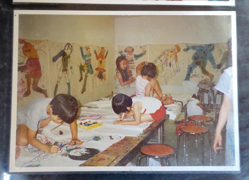 (写真について)1970〜80年代には玉川高島屋でも教室を開いていた。