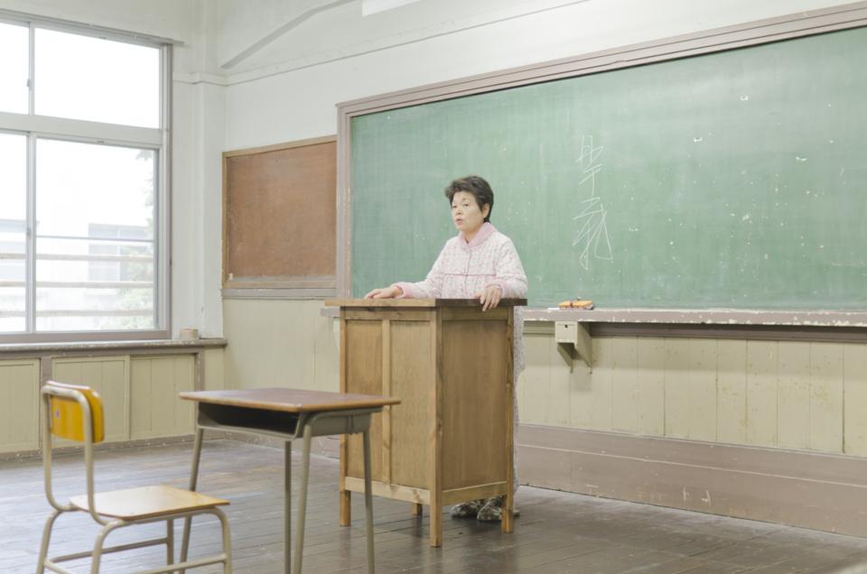 (写真について)廃校を舞台にした第2作『老人ハイスクール』より。