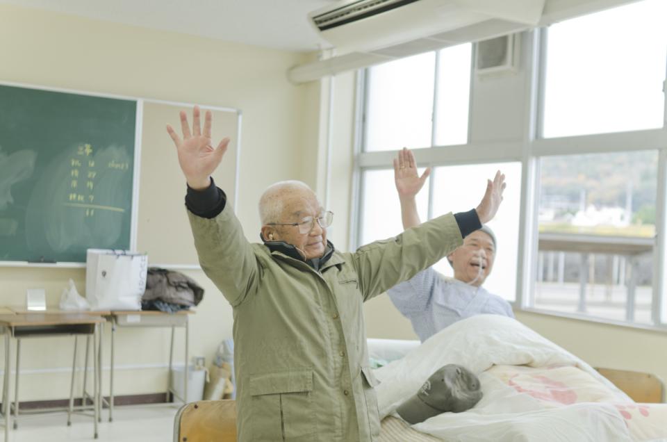 (写真について)『老人ハイスクール』より。