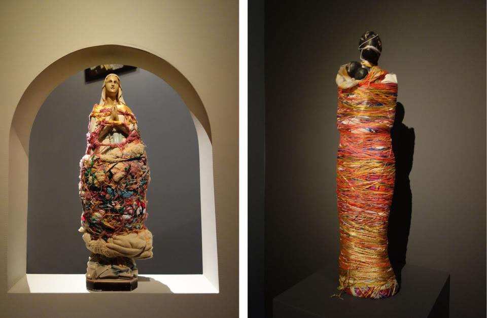 (写真について)ローラ・デルボーさんによるマリア像の作品。