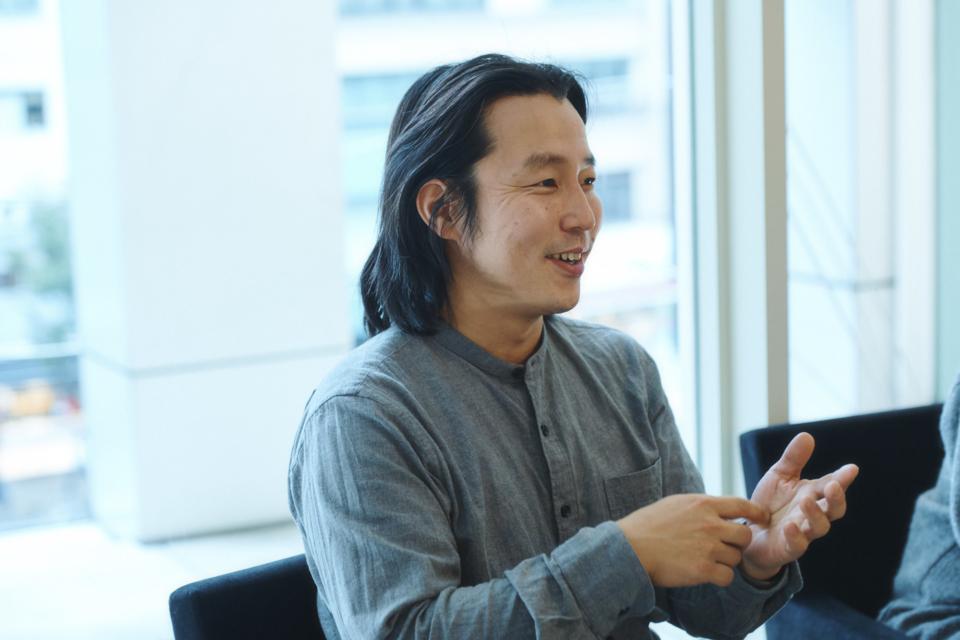 (写真について)松永直さん。