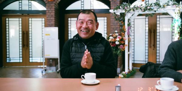 A photograph of AOKI Takeru's face