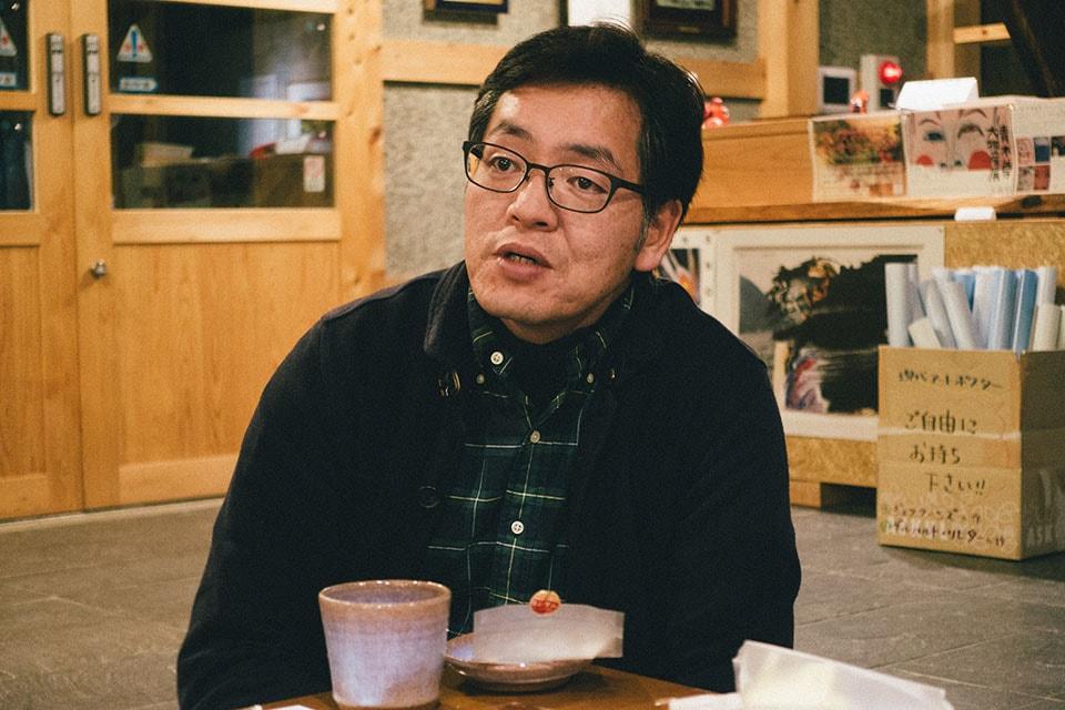 (写真について)はじまりの美術館館長・岡部兼芳さん。