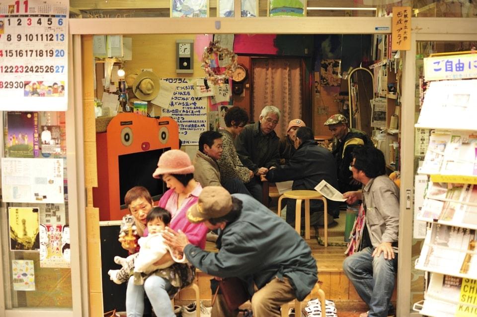(写真について)移転前の「ココルーム」の向かいに作り、約3年間活動した「カマン! メディアセンター」。
