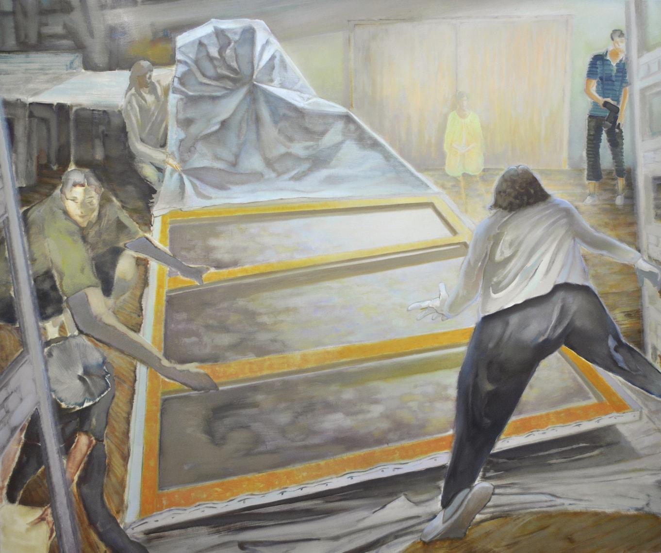 (写真について)田中秀介「寄ってたかって偶発寓意」 2017年 キャンバスに油彩 162×194cm