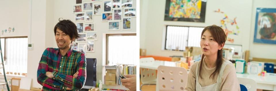 (写真について)〈YELLOW〉のスタッフ日垣雄一さんと水野浩世さん。水野さんいわく、ここでは余裕を持って働けるそう。