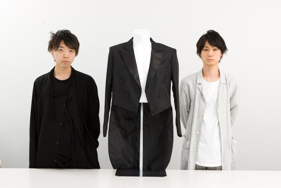 (写真について)ORCHESTRA JACKET 開発に関わった落合陽一(左)、博報堂の宇佐美雅俊(右)