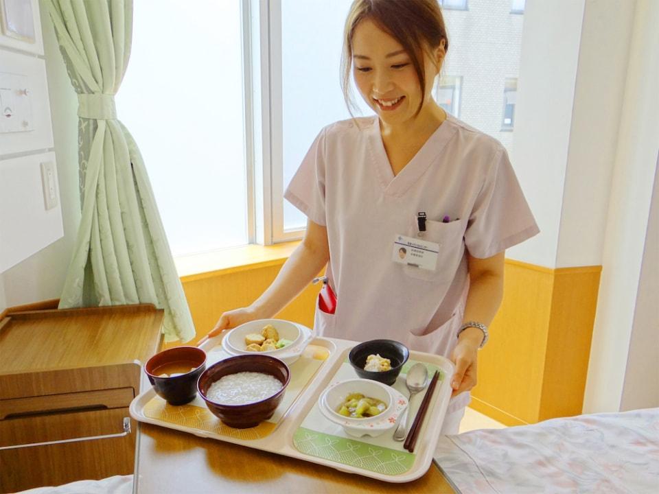 (写真について)病院食滑り止めトレーシート/筑波メディカルセンター病院