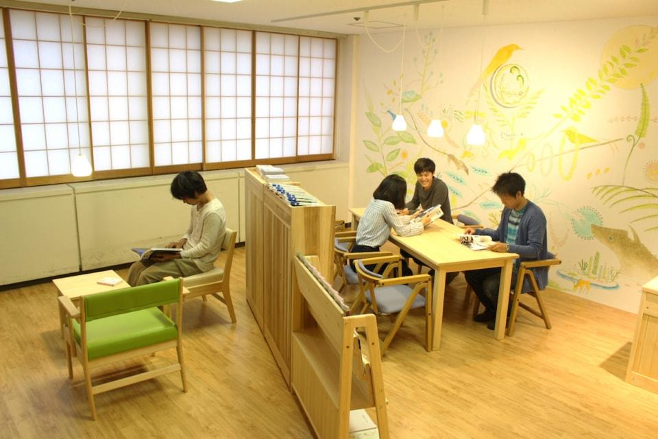 (写真について)患者図書室「桐の葉文庫」/筑波大学附属病院