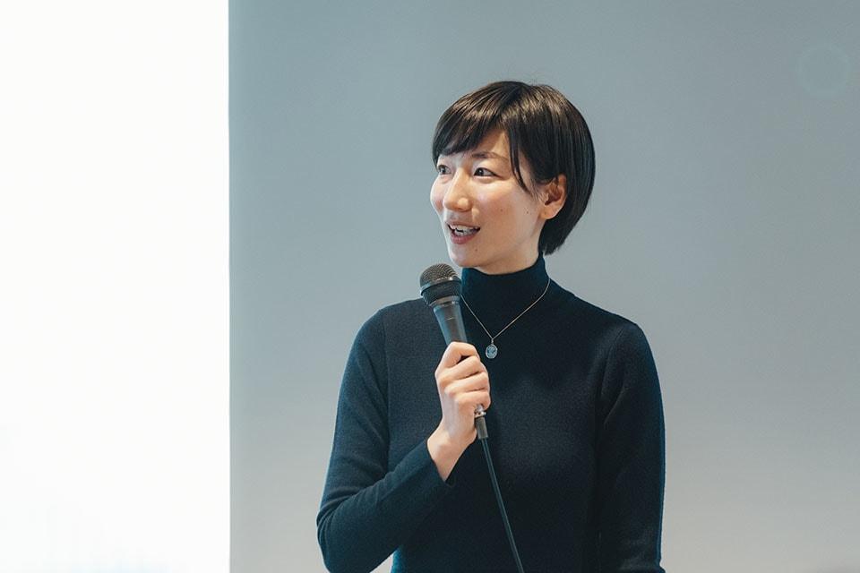 (写真について)奥山理子さん。