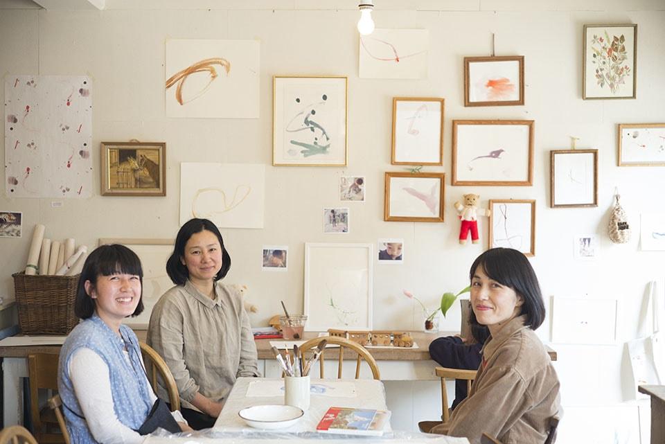(写真について)写真左から、堀江直子さん、小梅さん、矢部綾子さん。