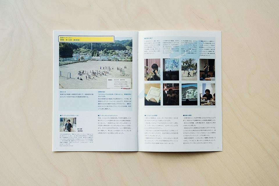 """(写真について)東京都現代美術館では、島の小学校との文通を行なったプロジェクト「写真がつなぐ""""船の交換便""""」(2017年)や、多摩地区の学校にアーティストが訪問する「GO WEST 西へ!!」(2016年)など、さまざまなプログラムを行なっている。写真は「GO WEST 西へ!!」より。"""