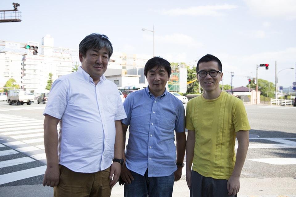 (写真について)左から、NPO法人まる・代表理事の樋口龍二さん、第二宅老所よりあい・所長の村瀬孝生さん、唐人町寺子屋・塾長の鳥羽和久さん。