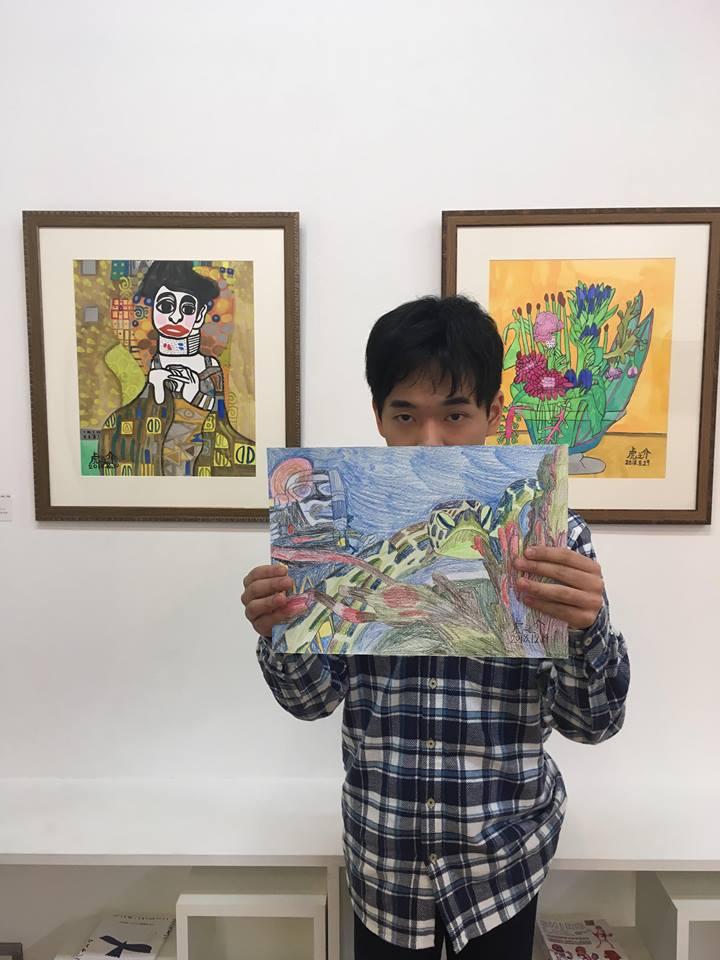 (写真について)2017年受賞者の作家・谷村虎之介さん