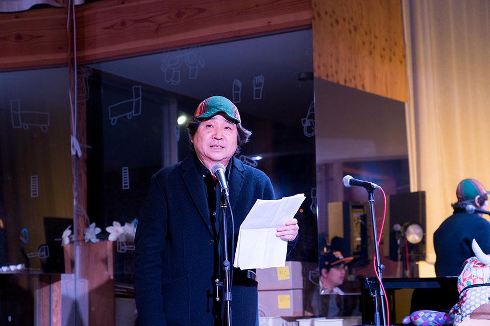 (写真について)「状況のアーキテクチャー」プロジェクトリーダーで京都市立芸術大の教授、高橋悟さん。