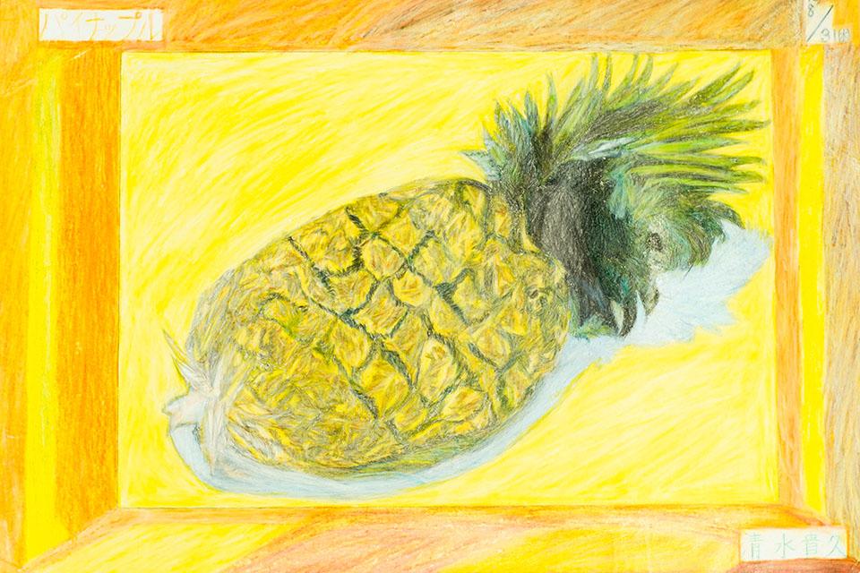(写真について)小さい頃から絵を描くことも好きだったと言う清水さん。昔は画材もさまざまだったが、今は色鉛筆で描くことが多い。