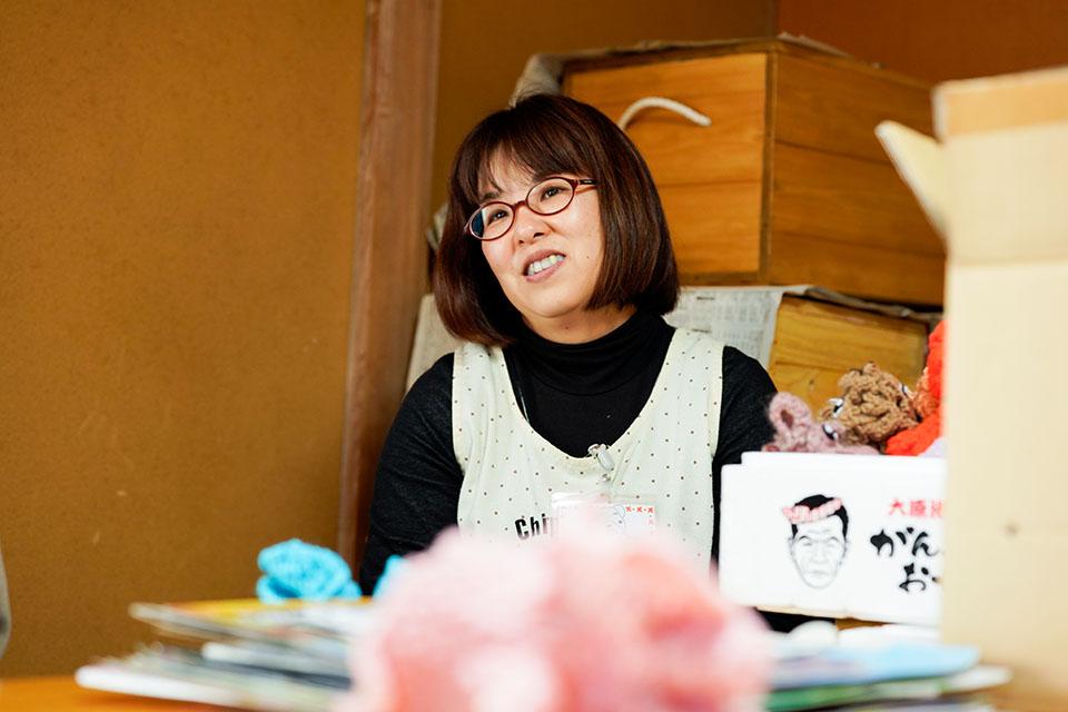 (写真について)前原洋子さんは2012年から〈伊那ゆいま〜る〉の支援員に。