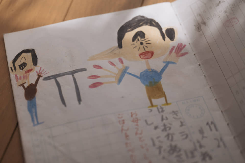 (About the photo)Shota's diary features many uniquely drawn characters.