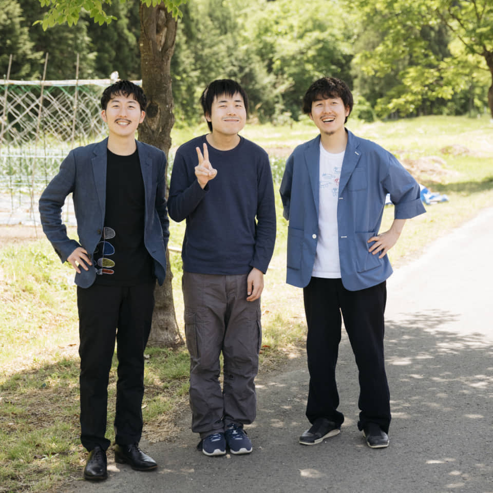 (About the photo)From left to right: Fumito Matsuda, the eldest brother Shota, and Takaya.