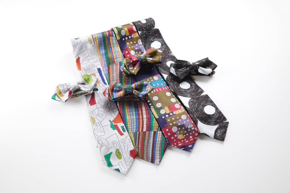 (About the photo)HERALBONY neckties. Each product is named with the actual artist's name. Photo provided by HERALBONY.