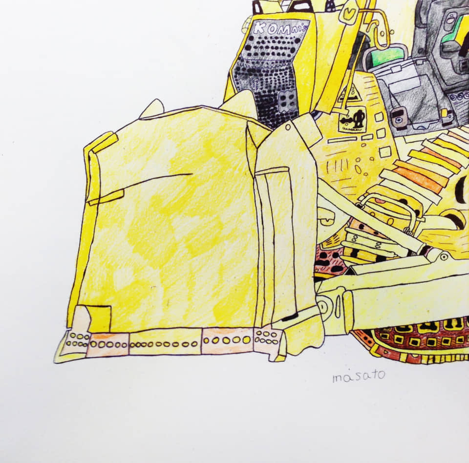 (写真について)「工場」シリーズ/顔料ペン・アクリル絵の具/制作年不詳 写真提供:studioFLAT