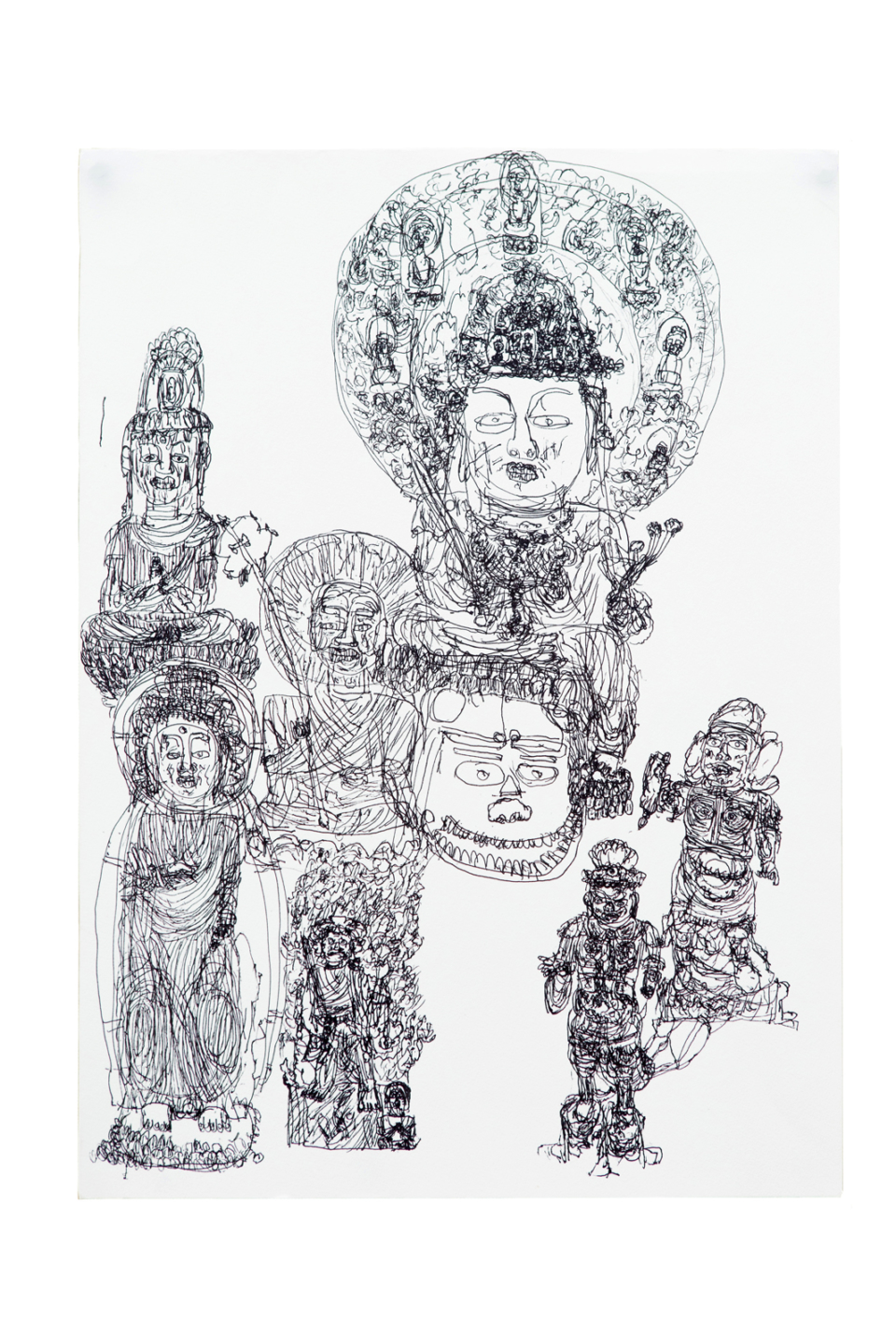 (About the photo)«A series of buddhas 2» / Pigment pen /400×550mm / 2018