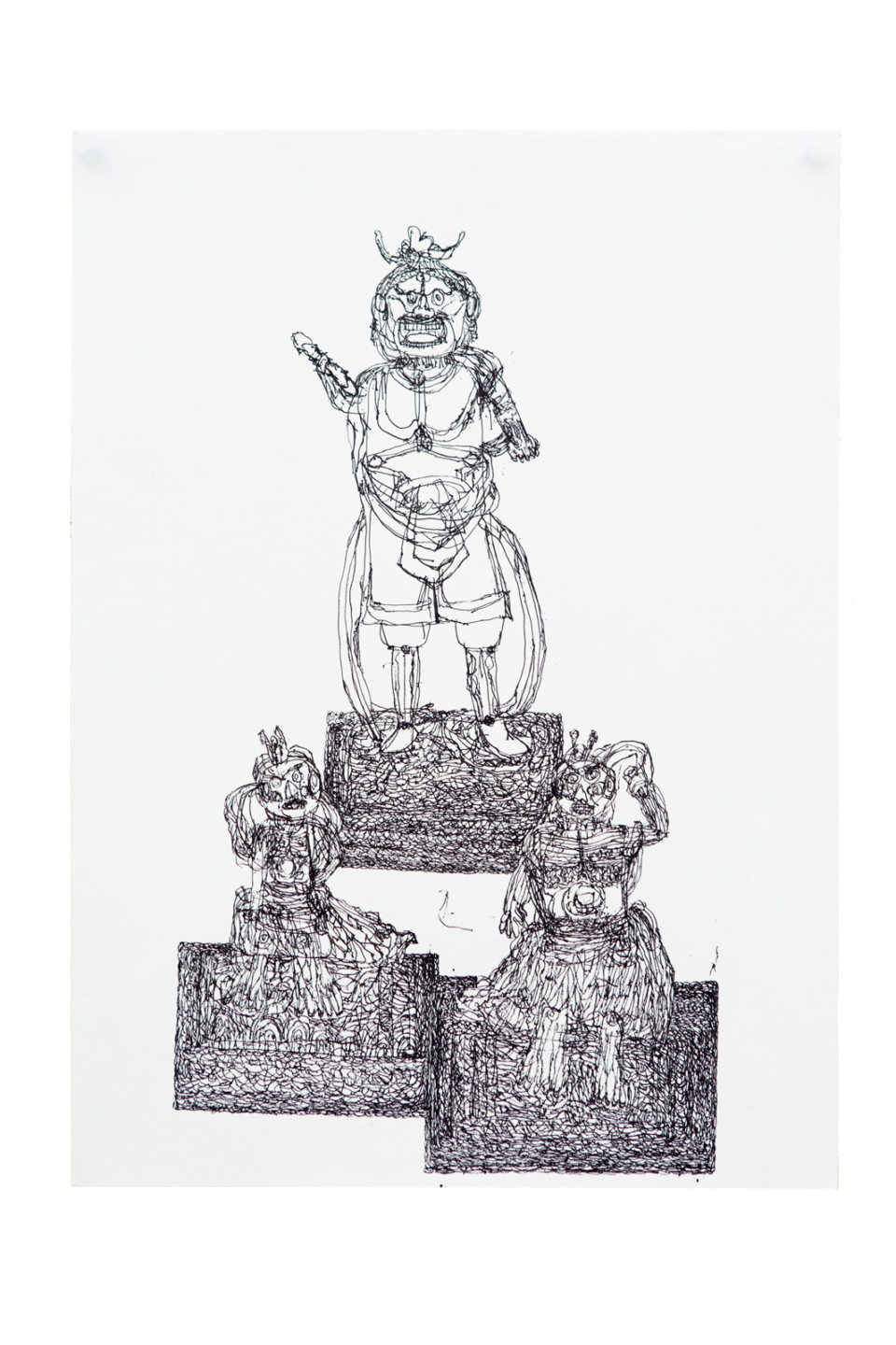(About the photo)«A series of buddhas 1» / Pigment pen /400×550mm / 2018