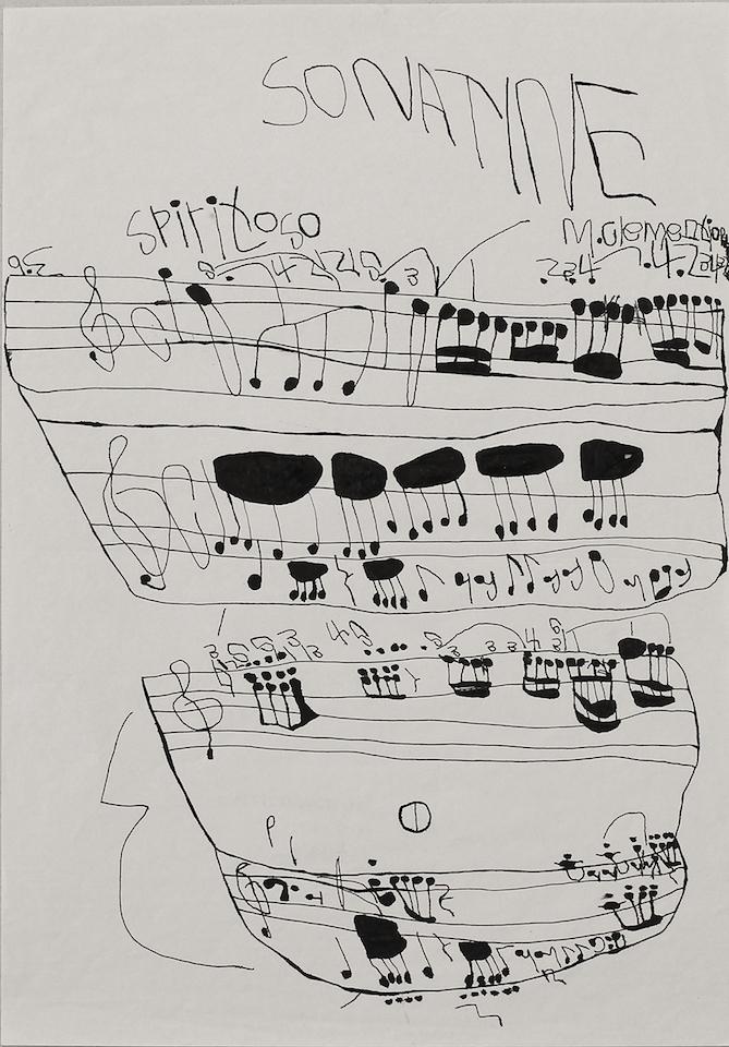 (写真について)西岡弘治《楽譜 SONATINE》 制作年不明 © atelierCORNERS
