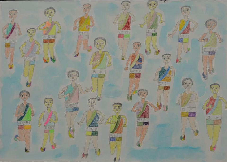 (写真について)「乱…人」/270×380mm/紙に鉛筆、色鉛筆、水彩絵の具/2008年/日本財団所蔵