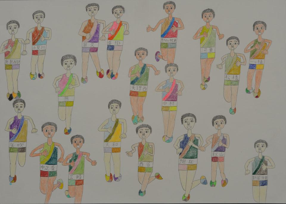 (写真について)「乱…人」/270×380mm/紙に鉛筆、色鉛筆/2008年/日本財団所蔵