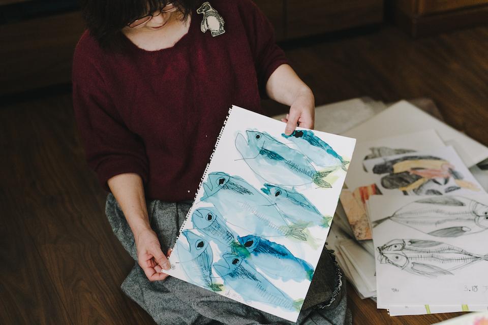 (写真について)睦子さん、お気に入りの作品がこちら。「結構初期の頃の作品なんですが、この絵を見るとじーんとくるものがあって、泣けてくるんです」。