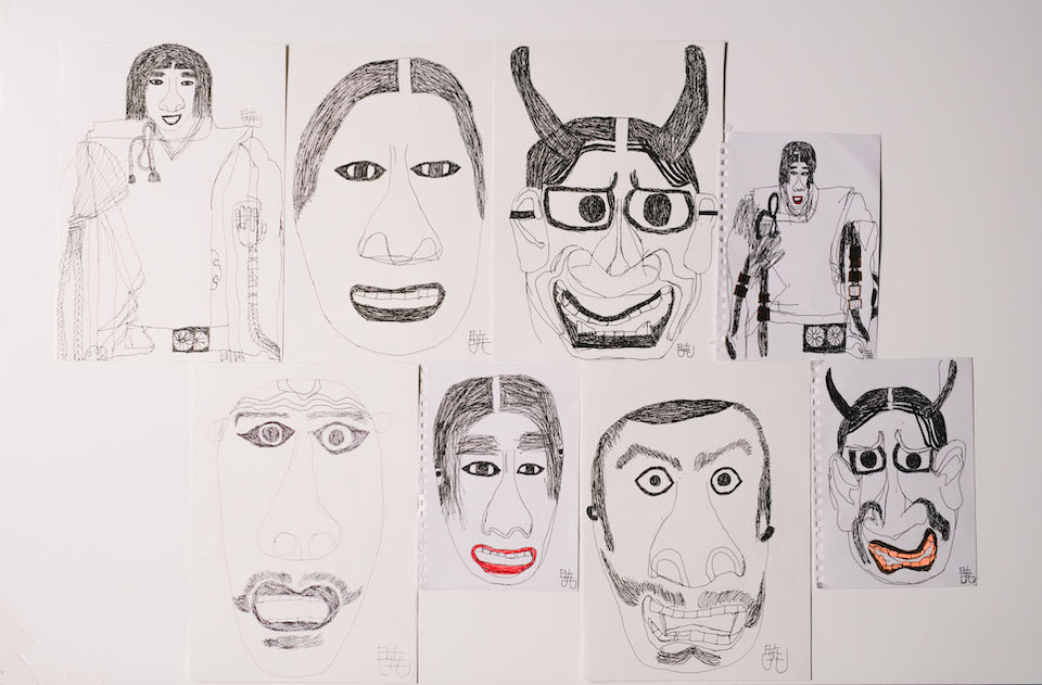 (About the photo)Noh masks