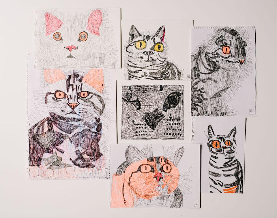 (写真について)猫の絵いろいろ。