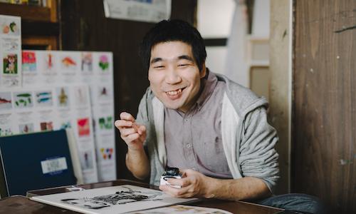 A photograph of HIMENO Satoru's face