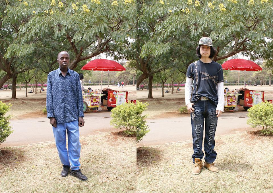 (写真について)《Self Select in Nairobi(Self Select #65 (Nairobi))》2009 ラムダプリント、アクリル加工、シングルチャンネル・ヴィデオ、サウンド Courtesy of the artist