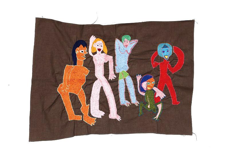 (写真について)《すっぽん祭り》2010 綿刺繍糸、綿布 Courtesy of the artist and ATELIER YAMANAMI