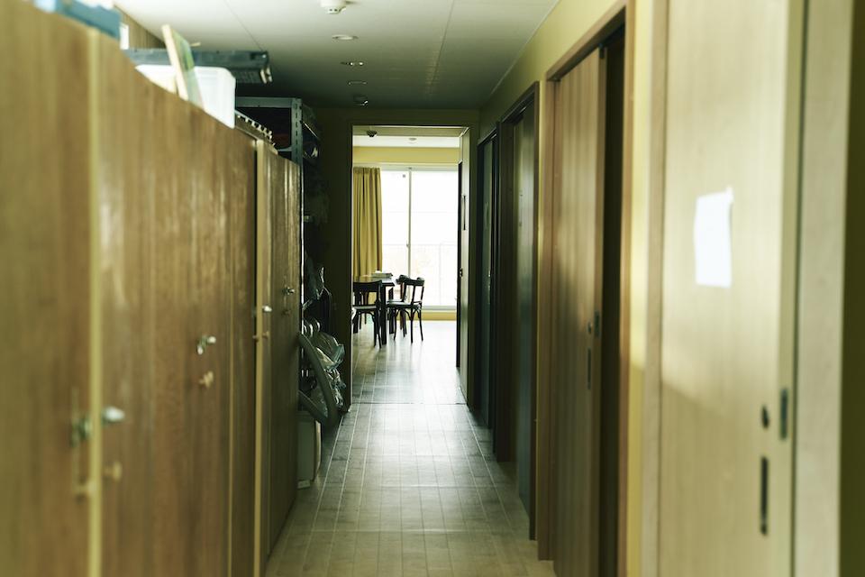 (写真について)3Fには重度の知的障害がある人のシェアハウスと一般の人々が泊まれるゲストハウスがある。