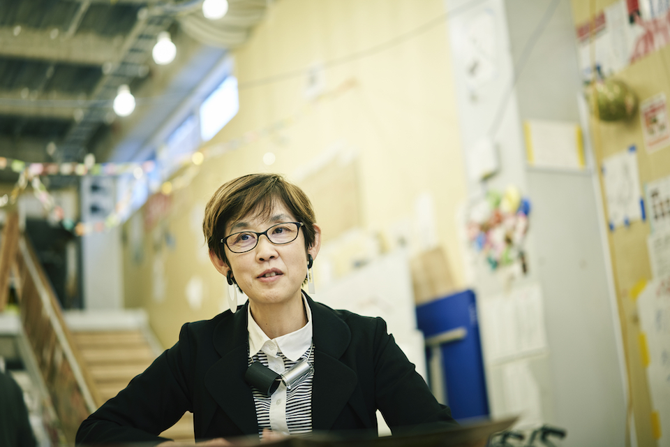 (写真について)〈認定NPO法人クリエイティブサポートレッツ〉理事長の久保田翠さん。