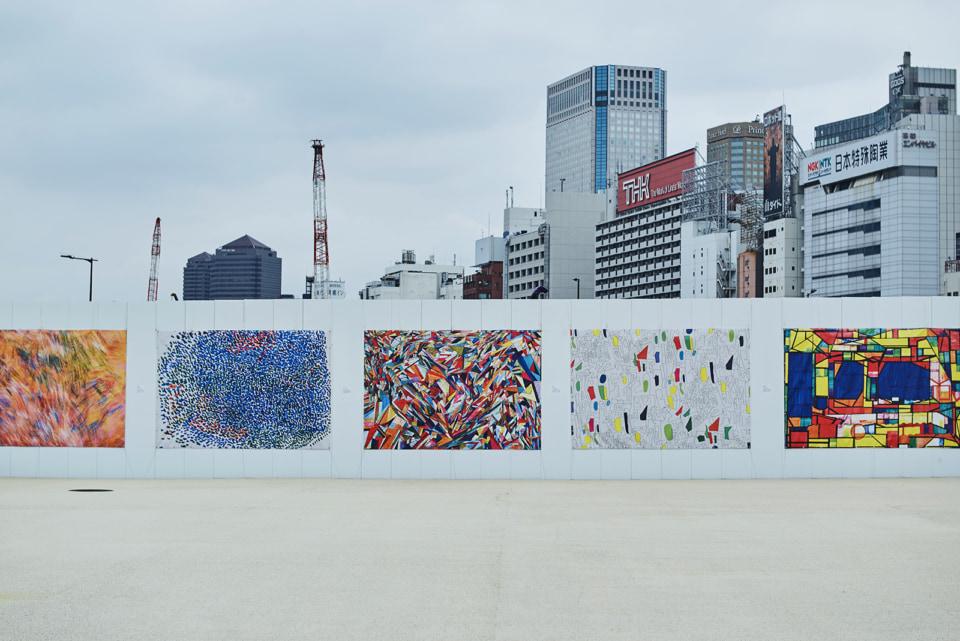 JR 高輪ゲートウェイ駅に設置された仮囲いアートプロジェクト